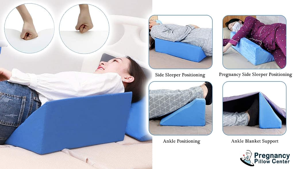 Back positioning elevation back support-sleeping pregnancy pillow helps to the knee, legs, stomach, spine while sleeping in maternity
