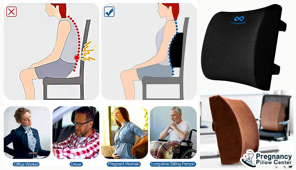 Back support travel pregnancy pillow get rid of the instant back pain.