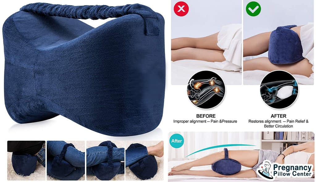 Multi-purpose knee travel pregnancy pillow is provided more benefits specially for pain relief of knee.