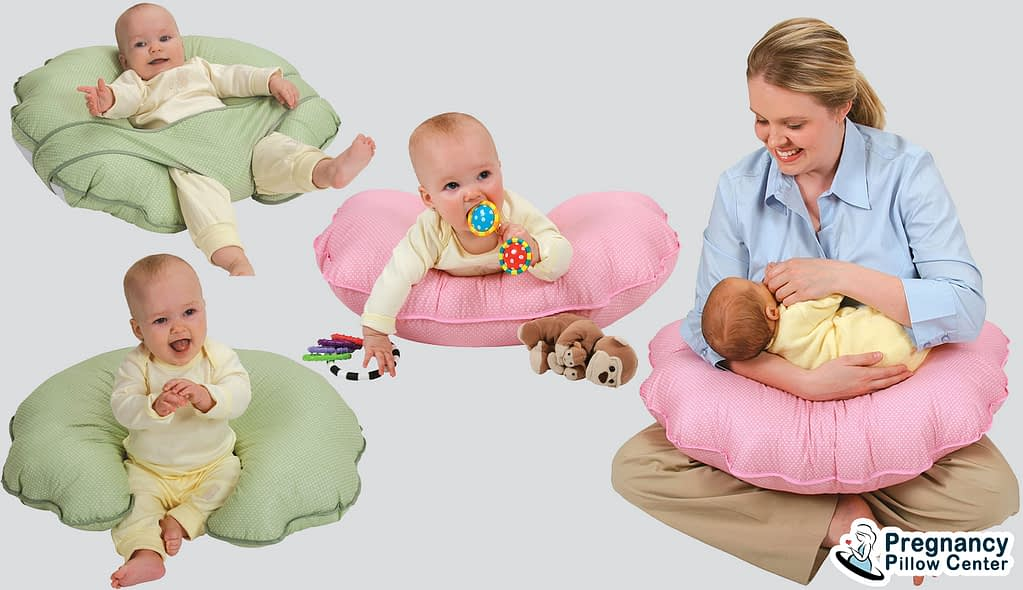 U basic breastfeeding pillow (Nursing pillow) use for breastfeeding, retaining baby by using a seat pocket.