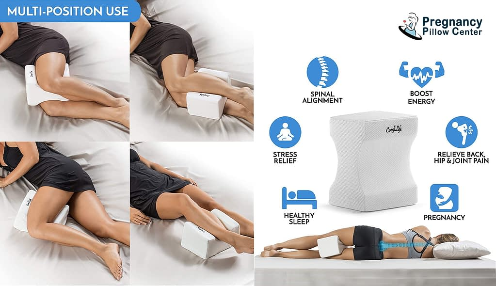 Wedge counter memory foam pregnancy pillow is used for multi-position.