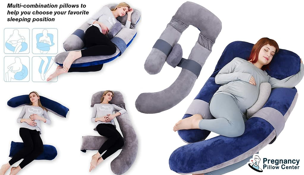 Separable U-shaped full-body pregnancy pillow can be separated and used for multi-purposes.