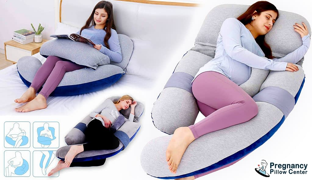 The 3 seperatable part of this pregnancy pillow can be adjusted to suite any plus size mom.