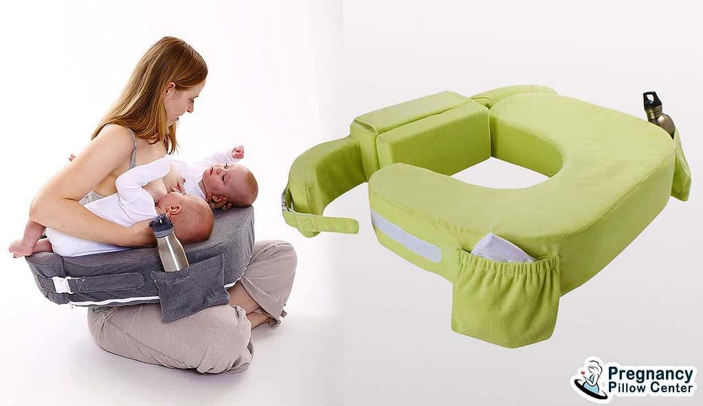 Original breastfeeding pillow is recommended for twin breastfeeding. (Nursing pillow)