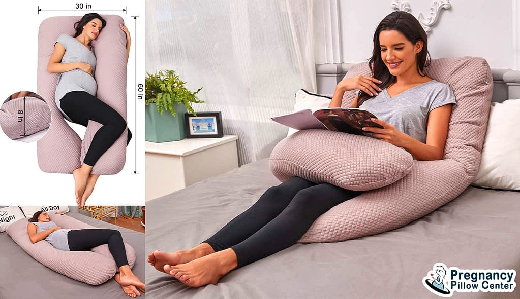 Skin-friendly U shaped pregnancy pillow provide multi-functions during maternity.