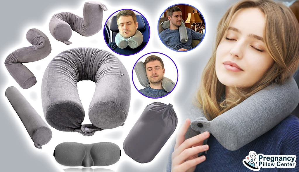 Twist memory foam portable-travel pregnancy pillow can be used for multi-purposes during maternity.