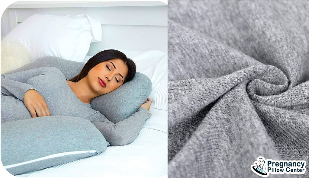 The cotton fabrics use as outer cover material of maternity pillow.