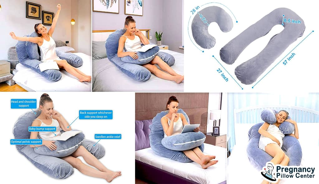 Belly support U shaped pregnancy pillow consists of two type of pillow and it helps to different purposes.