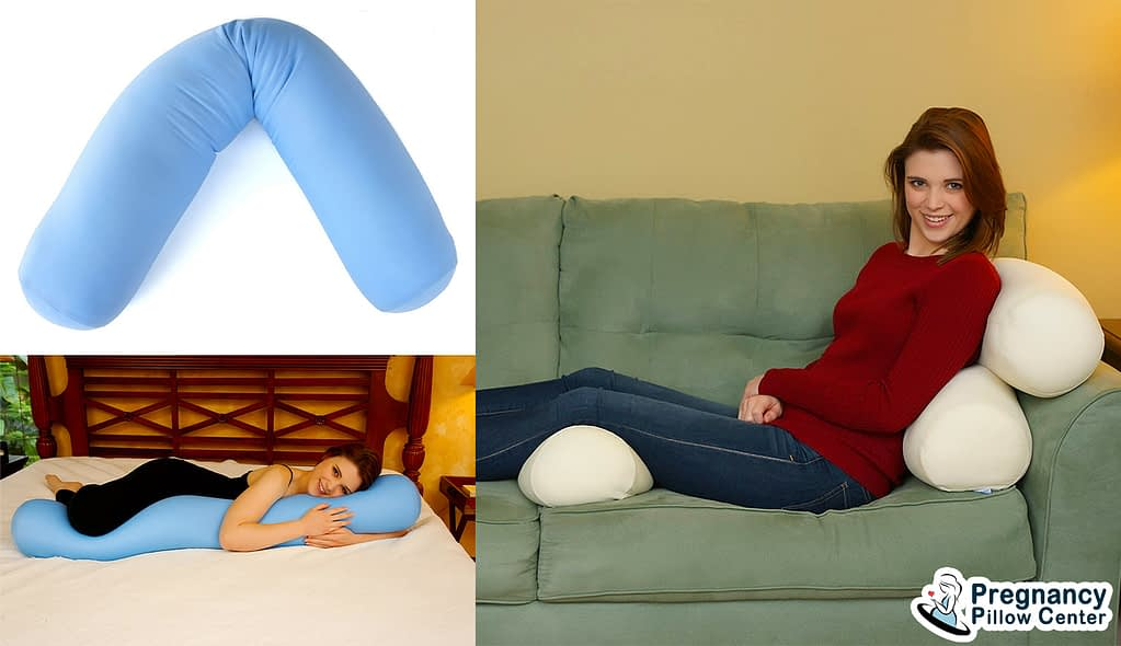 Deluxe hypoallergenic pregnancy pillow offers personalized support from head to toe.