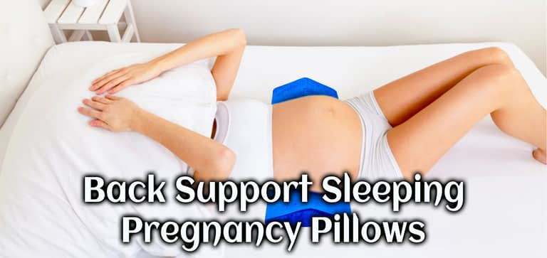 Back side support pregnancy pillow use to back pain relief during pregnancy sleeping.