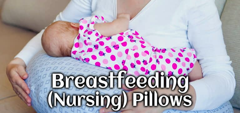 The breastfeeding (Nursing) pillow support to the breastfeeding mom and baby.