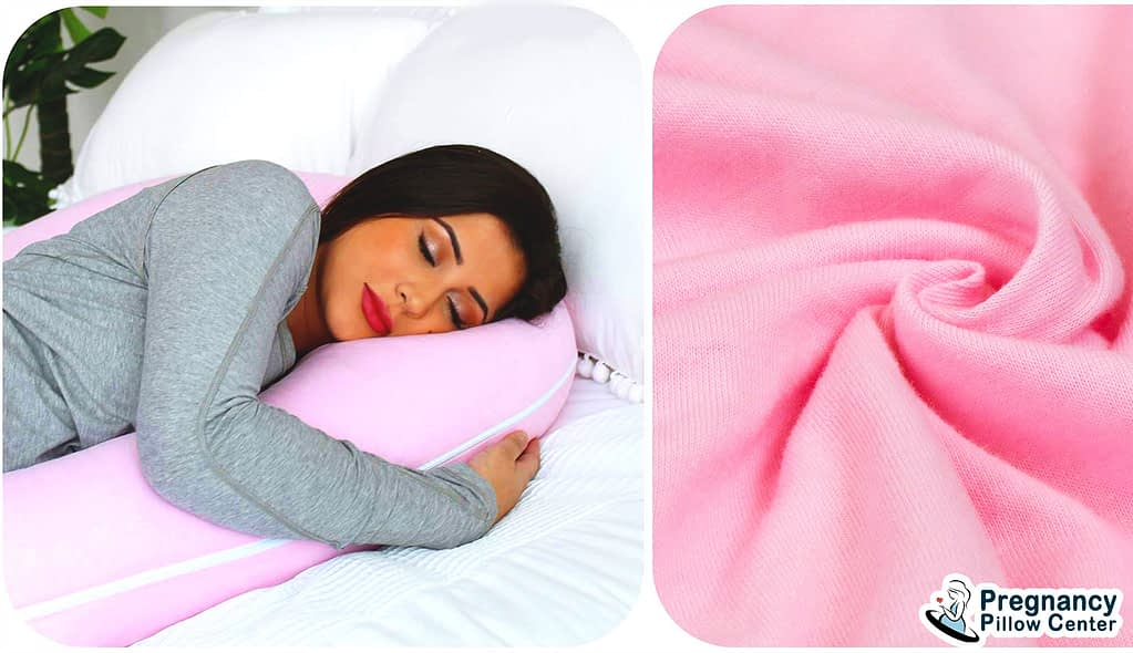 The jersey cover is use as outer material of pregnancy pillow