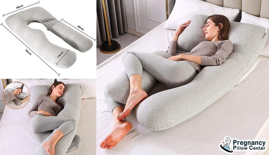 Hypoallergenic 2 in 1 full-body pregnancy pillow offer a non-toxic behavior.